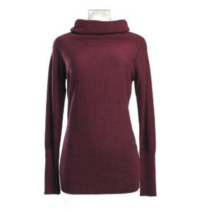 Maglia color Bordeaux da Donna di Yes Zee stocchisti stock grossisti ingrosso abbigliamento firmato donna uomo accessori firmati grandi firme emilia romagna