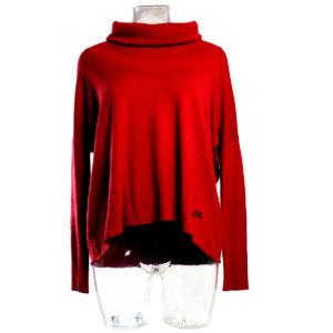 Maglia da Donna a Pipistrello color Rosso di Yes Zee stocchisti stock grossisti ingrosso abbigliamento firmato donna uomo grandi firme accessori firmati emilia romagna
