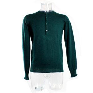 maglioncino-verde-bottoni-uomo-yes-zee-ingrosso-abbigliamento-grandi-firme-continuativo