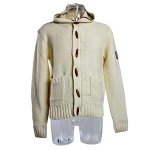 Maglione con Cappuccio color Bianco di Yes Zee stocchisti stock grossisti ingrosso abbigliamento firmato uomo donna accessori firmati grandi firme emilia romagna