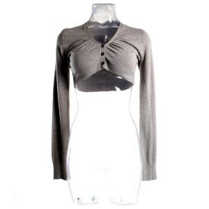 Coprispalla YES-ZEE di colore Beige collezione autunno inverno capo continuativo abbigliamento firmato donna ingrosso grossisti stock stocchisti