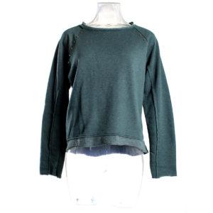 Felpa YES-ZEE da donna di colore Verde collezione autunno inverno capo continuativo abbigliamento firmato donna stock ingrosso stocchisti grossisti