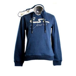 Felpa YES-ZEE da donna di colore blu collezione autunno inverno prodotto continuativo abbigliamento firmato donna ingrosso grossisti stock stocchisti