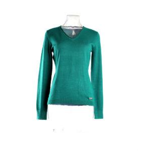 Maglia LIU-JO di colore verde acqua collezione autunno inverno capo continuativo abbigliamento firmato donna ingrosso grossisti stock stocchisti