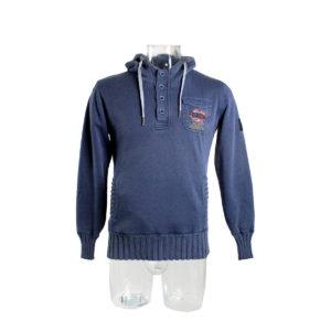 Felpa YES-ZEE colore blu da uomo collezione autunno inverno prodotto continuativo