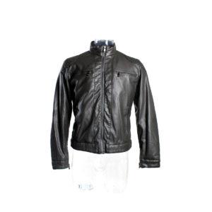 Giacca di pelle YES-ZEE da uomo color marrone prodotto continuativo collezione autunno inverno vendita in stock