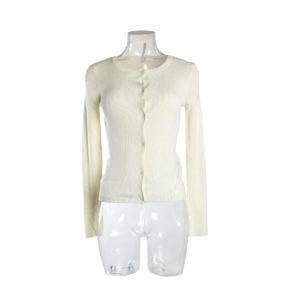 Cardigan GUESS di colore Bianco collezione autunno inverno prodotto continuativo abbigliamento firmato stock ingrosso grossisti stocchisti