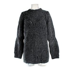 Maglione SH di colore Nero collezione autunno inverno prodotto continuativo abbigliamento firmato donna ingrosso stocchisti stock grossisti