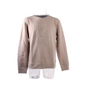 Felpa GUESS colore beige da uomo collezione autunno inverno prodotto continuativo abbigliamento firmato ingrosso grossisti stock stocchisti