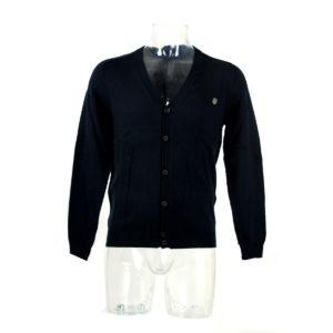 Cardigan ANTONY MORATO di colore Blu collezione autunno inverno capo continuativo abbigliamento firmato uomo ingrosso grossisti stock stocchisti