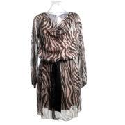 abito-manica-lunga-fantasia-marrone-cintura-donna-yes-zee-ingrosso-abbigliamento-continuativo