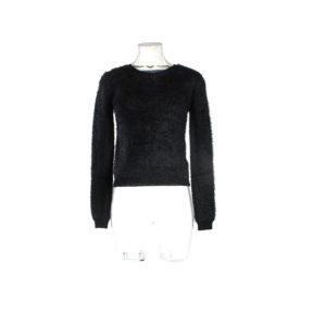 Maglioncino GUESS di colore Nero con Pelo collezione autunno inverno abbigliamento firmato uomo ingrosso stock grossisti stocchisti