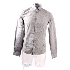Camicia GUESS da Uomo di colore Grigio a fantasia collezione autunno inverno abbigliamento firmato uomo ingrosso stock grossisti stocchisti
