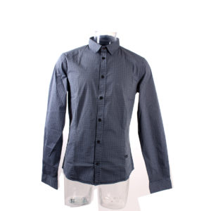 Camicia GUESS da Uomo di colore Azzurro con fantasia collezione autunno inverno abbigliamento firmato uomo ingrosso stock grossisti stocchisti