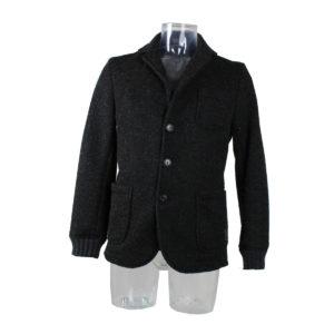 Giacca YES-ZEE di colore Nero da Uomo collezione autunno inverno 2016/17 ingrosso stock grossisti stocchisti abbigliamento firmato uomo