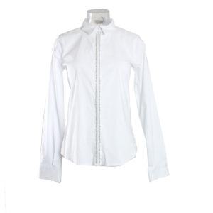 Camicia di colore Bianco con brillantini FRACOMINA nuova collezione primavera estate 2017 abbigliamento firmato donna ingrosso grossisti stock stocchisti emilia romagna