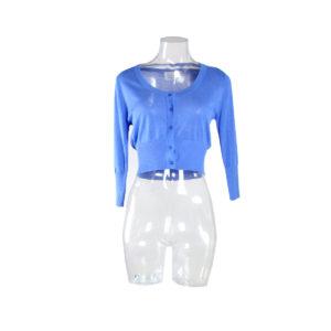 Cardigan corto di colore Blu chiaro FRACOMINA nuova collezione primavera estate 2017 abbigliamento firmato donna ingrosso grossisti stock stocchisti emilia romagna