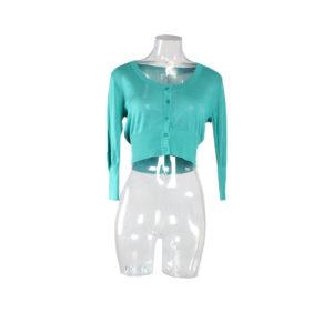 Cardigan corto di colore Verde Acqua FRACOMINA nuova collezione primavera estate 2017 abbigliamento firmato donna ingrosso grossisti stock stocchisti emilia romagna
