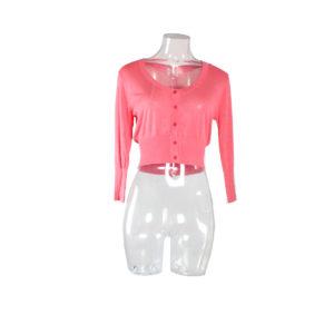 Cardigan corto di colore Rosa FRACOMINA nuova collezione primavera estate 2017 abbigliamento firmato donna ingrosso grossisti stock stocchisti emilia romagna