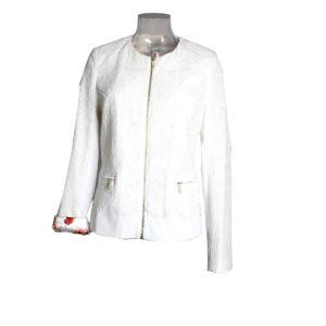 Giacca di Pizzo di colore Bianco FRACOMINA da donna nuova collezione primavera estate abbigliamento firmato donna emilia romagna ingrosso vendita abbigliamento stock grossisti stocchisti
