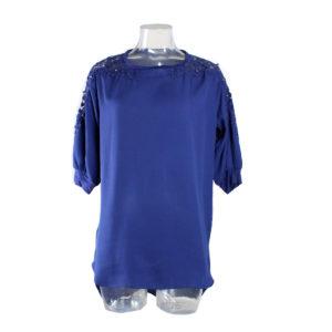 Maglia di colore Blu con Perline FRACOMINA da donna collezione primavera estate abbigliamento firmato donna accessori firmati emilia romagna ingrosso vendita abbigliamento stock grossisti stocchisti