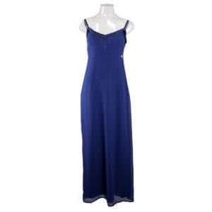 Abito lungo di colore Blu FRACOMINA da donna nuova collezione primavera estate abbigliamento firmato donna emilia romagna ingrosso vendita abbigliamento stock grossisti stocchisti