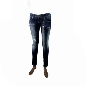 Jeans strappati di colore Blu scuro FRACOMINA da donna nuova collezione primavera estate abbigliamento firmato donna emilia romagna ingrosso vendita abbigliamento stock grossisti stocchisti