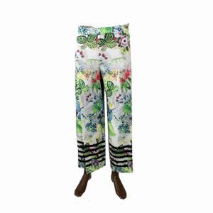 Pantaloni fantasia Floreale FRACOMINA da donna nuova collezione primavera estate abbigliamento firmato donna emilia romagna ingrosso vendita abbigliamento stock grossisti stocchisti