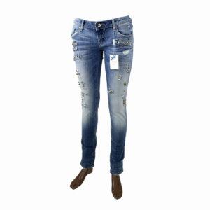 Jeans con Perline FRACOMINA da donna collezione primavera estate abbigliamento firmato donna accessori firmati emilia romagna ingrosso vendita abbigliamento stock grossisti stocchisti