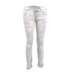 Jeans slavati rattoppati MET donna abbigliamento firmato donna accessori firmati emilia romagna ingrosso vendita abbigliamento stock grossisti stocchisti