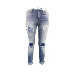 Jeans chiari con strappi MET donna abbigliamento firmato donna accessori firmati emilia romagna ingrosso vendita abbigliamento stock grossisti stocchisti
