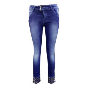 Jeans di colore Blu scuro MET donna abbigliamento firmato donna accessori firmati emilia romagna ingrosso vendita abbigliamento stock grossisti stocchisti
