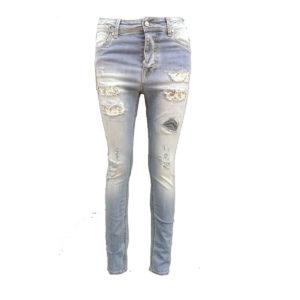 Jeans stretti con strappi MET donna abbigliamento firmato donna accessori firmati emilia romagna ingrosso vendita abbigliamento stock grossisti stocchisti