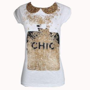 T-shirt donna assortite vari modelli e colori nuove stampe firmate LONDON INK stocchisti stock grossisti ingrosso abbigliamento firmato grandi firme emilia romagna