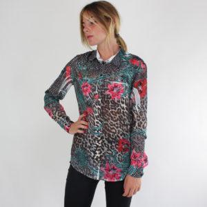 Camicia fantasia maculata e floreale GUESS abbigliamento firmato donna ingrosso grossisti stock stocchisti