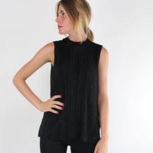 Top colore grigio scuro con cuciture GUESS abbigliamento firmato donna ingrosso grossisti stock stocchisti emilia romagna