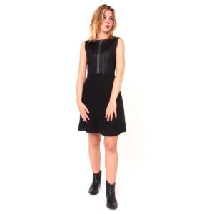 Abito nero corto FRACOMINA abbigliamento firmato donna accessori firmati emilia romagna ingrosso vendita abbigliamento stock grossisti stocchisti