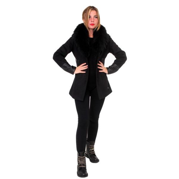 Cappotto con pelo e ecopelle FRACOMINA abbigliamento firmato donna accessori firmati emilia romagna ingrosso vendita abbigliamento stock grossisti stocchisti