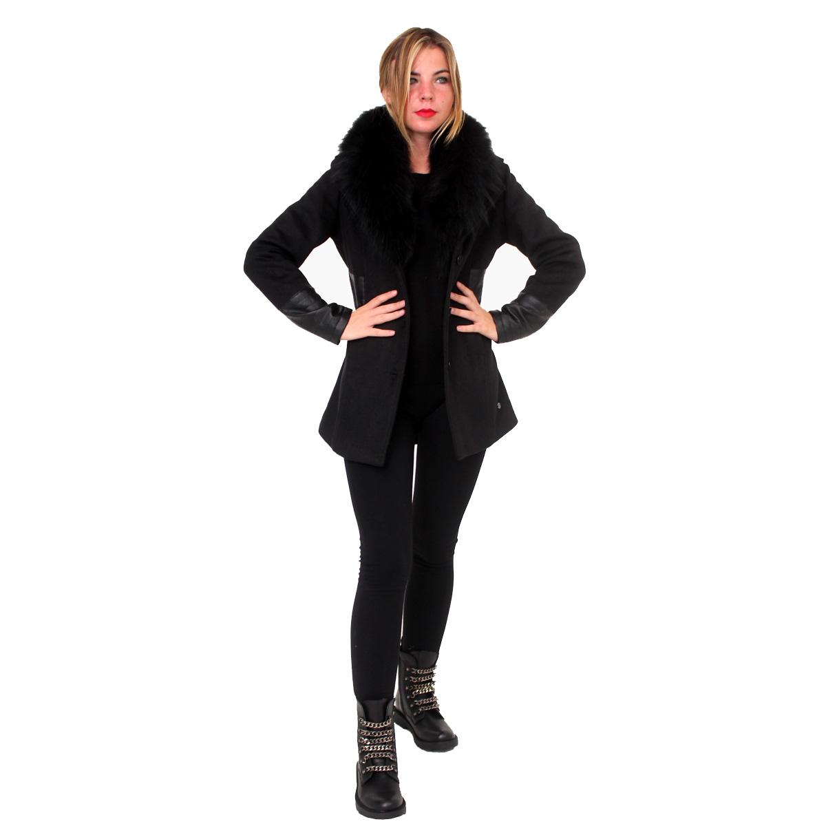 Cappotto con pelo e ecopelle FRACOMINA abbigliamento firmato donna  accessori firmati emilia romagna ingrosso vendita abbigliamento f95c00dcb85