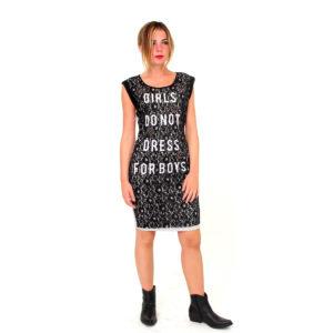 Abito grigio con pizzo nero FRACOMINA abbigliamento firmato donna accessori firmati emilia romagna ingrosso vendita abbigliamento stock grossisti stocchisti
