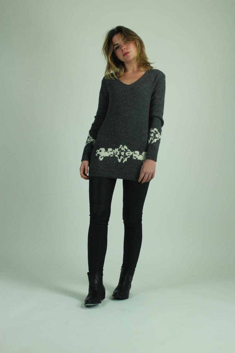Maglione grigio e bianco FRACOMINA abbigliamento firmato donna accessori  firmati emilia romagna ingrosso vendita abbigliamento stock 7b4a75d91ce
