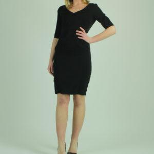 Abito nero con apertura posteriore FRACOMINA abbigliamento firmato donna accessori firmati emilia romagna ingrosso vendita abbigliamento stock grossisti stocchisti