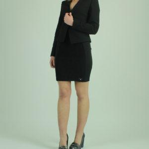 Gonna colore nero in pizzo FRACOMINA abbigliamento firmato donna accessori firmati emilia romagna ingrosso vendita abbigliamento stock grossisti stocchisti