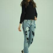 Jeans con strappi e perline LEVI'S abbigliamento firmato donna accessori firmati emilia romagna ingrosso vendita abbigliamento stock grossisti stocchisti