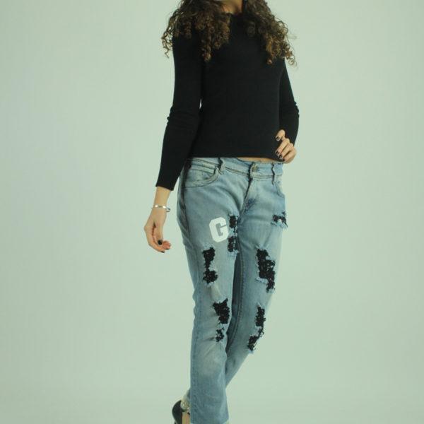 Jeans con strappi e perline LEVI'S