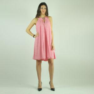 Abito rosa a pois NENETTE abbigliamento firmato donna accessori firmati emilia romagna ingrosso vendita abbigliamento stock grossisti stocchisti