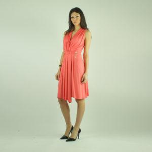 Abito colore pesca NENETTE abbigliamento firmato donna accessori firmati emilia romagna ingrosso vendita abbigliamento stock grossisti stocchisti