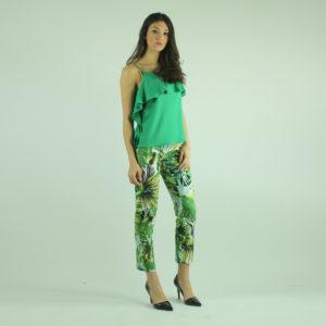 Pantaloni fantasia floreale IMPERIAL abbigliamento firmato donna accessori firmati emilia romagna ingrosso vendita abbigliamento stock grossisti stocchisti