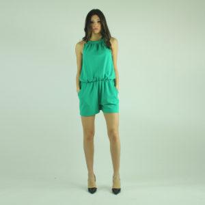 Tuta corta colore verde RELISH abbigliamento firmato donna accessori firmati emilia romagna ingrosso vendita abbigliamento stock grossisti stocchisti