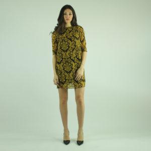 Abito colore nero e giallo ALMAGORES abbigliamento firmato donna accessori firmati emilia romagna ingrosso vendita abbigliamento stock grossisti stocchisti